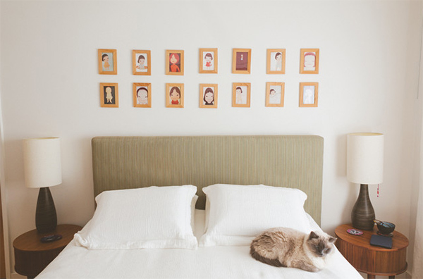 portrait drawings gallery bedroom