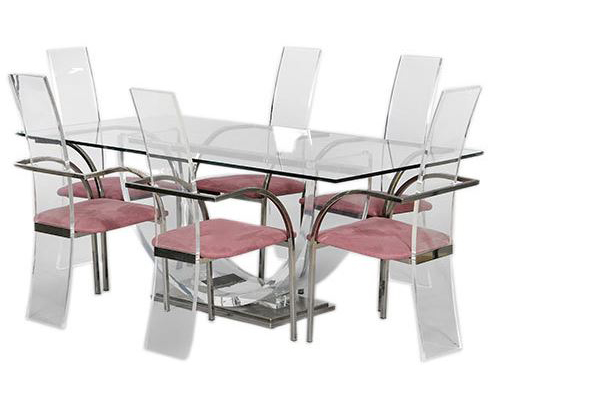 Set of Six Chairs and Dining Table