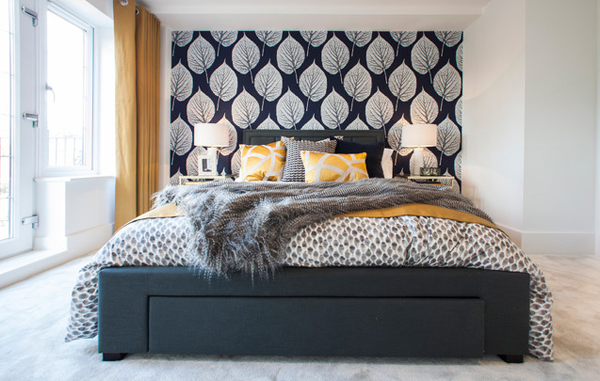 headboard bedroom pattern