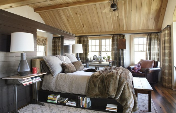 wooden ceiling bedroom