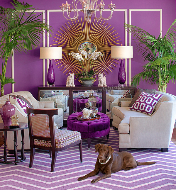 20 Perfect Purple and Gold Living Rooms | Home Design Lover