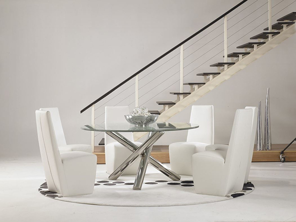 Gotham Dining Table And Tobi Dining Chairs