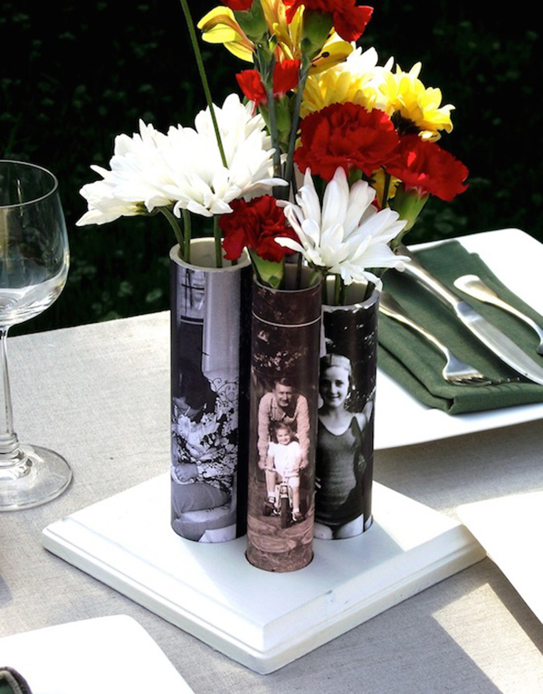 Mother's Day DIY vase from PVC pipe