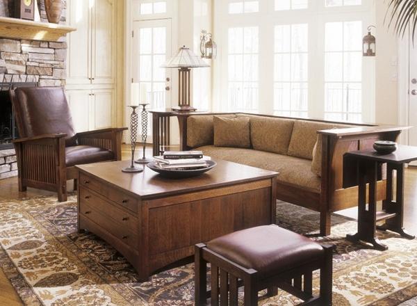20 comfortable oak living room furniture home design lover for Mission style living room furniture