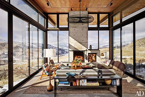 glass living room