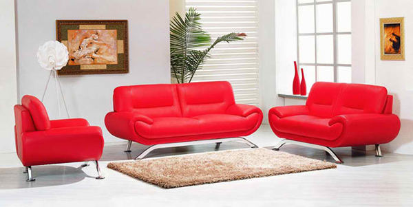 Superb Red Leather Furniture