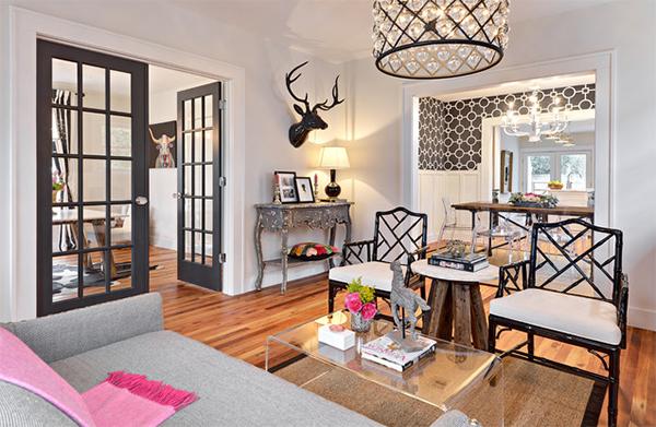 enclosed living room