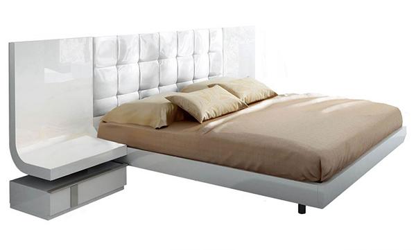 Granada White Lacquer Bedroom Set