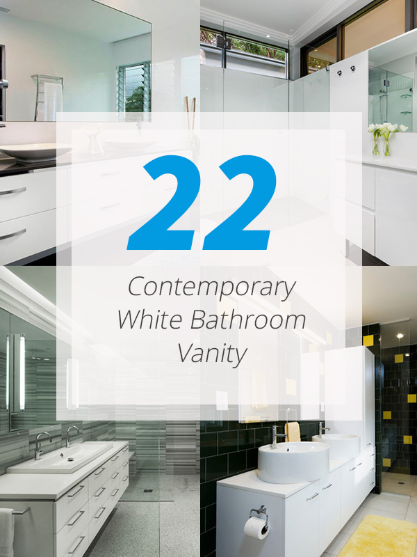 contemporary white vanity