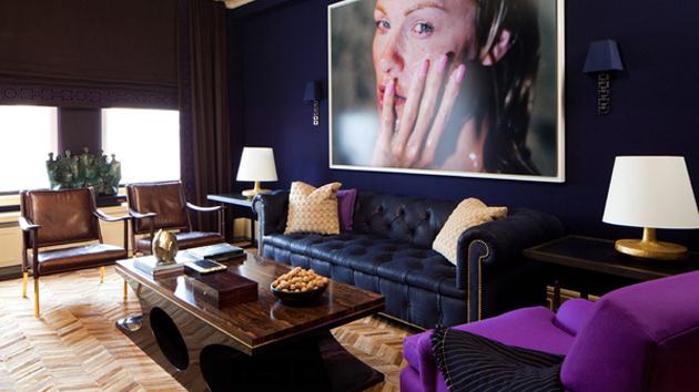 20 Perfect Purple And Gold Living Rooms