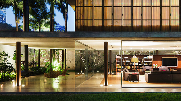 Appealing Modern Toblerone House in So Paulo Brazil Home