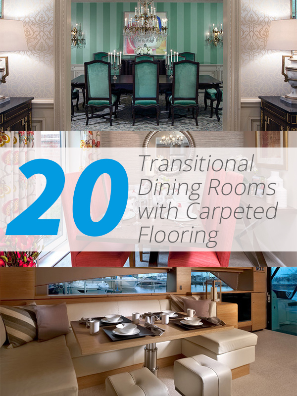 Transitional Carpet Dining