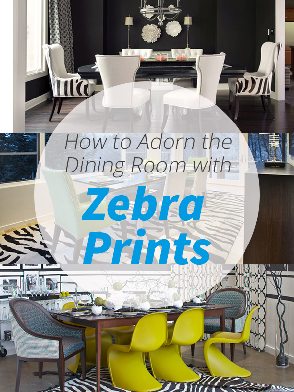 zebra prints dining