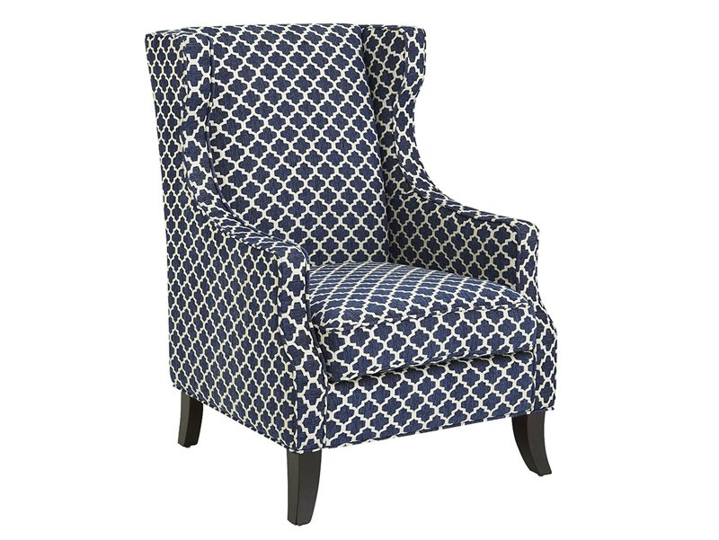 pattern wingback chair