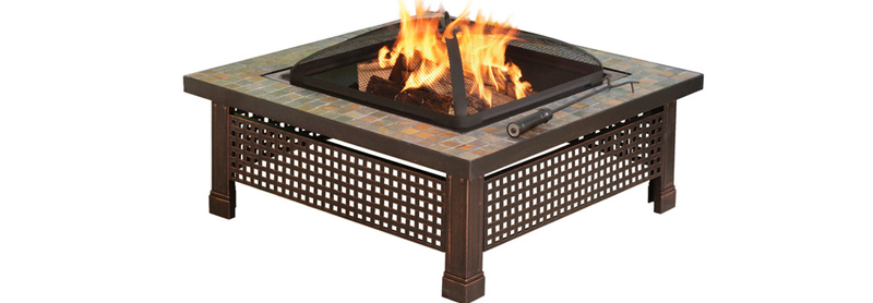 Outdoor Slate Fire Pit