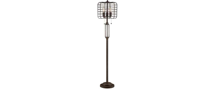 Rust Metal Floor Lamp