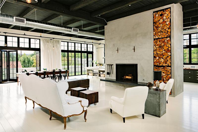 Concrete Fireplace Designs