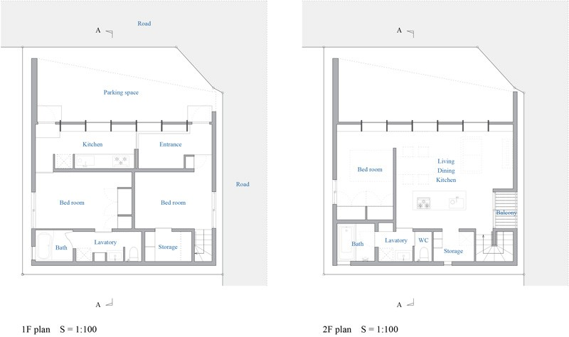 Checkered House floor plan
