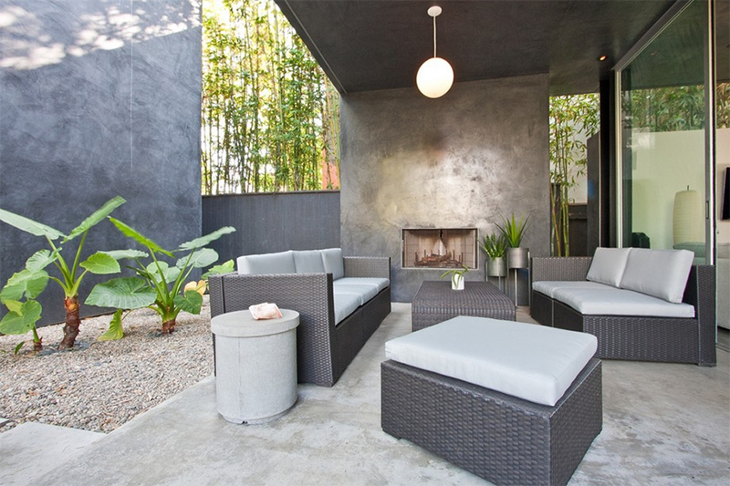 20 Concrete Fireplace Designs Highlighted in Well-Designed Living ...