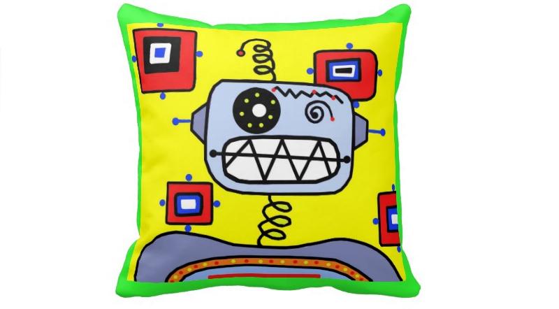Atomic Robot Throw Cushion
