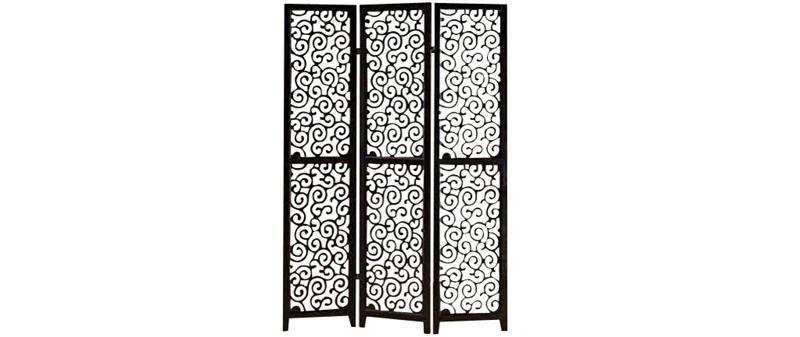 wooden black partition