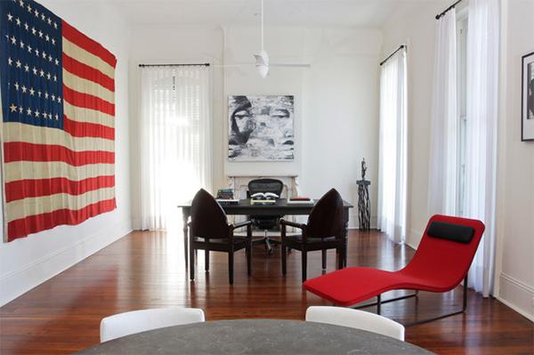 huge flag decor