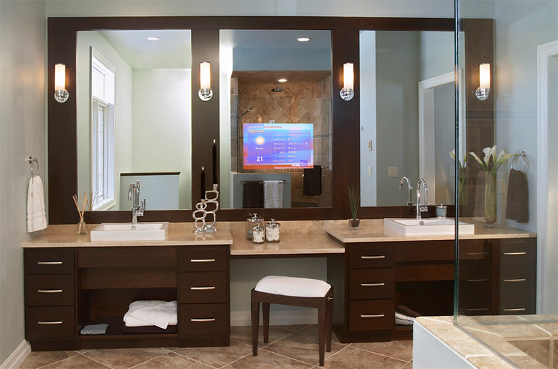 Bathroom Vanity Lights Denver 20 stunning contemporary dark wood bathroom vanity | home design lover