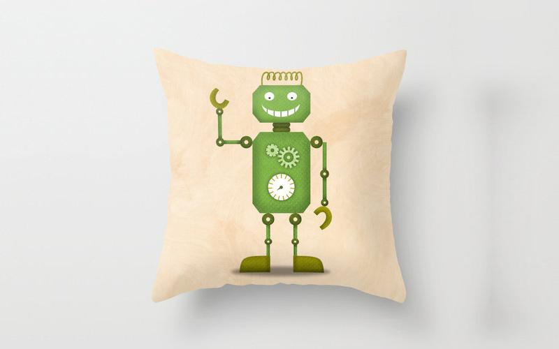 Robot Pillow Cover