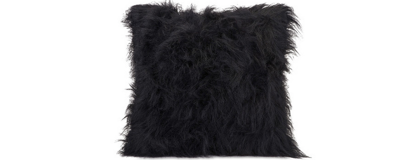 cushion avenue pillow main faux black fur emerson product dunelm fifth