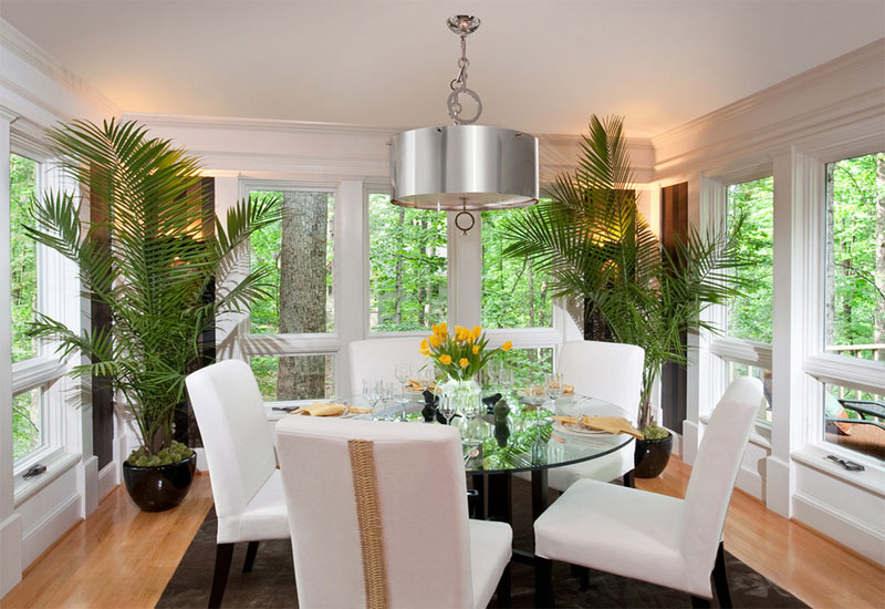 Nature Inspired Green Plants Decoration Charlottesville Design House