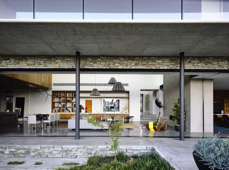 Concrete house facade