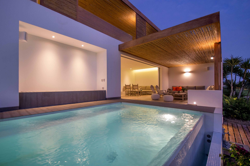 Peruvian Beach House Geometric Pool