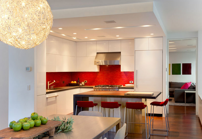 red backsplash