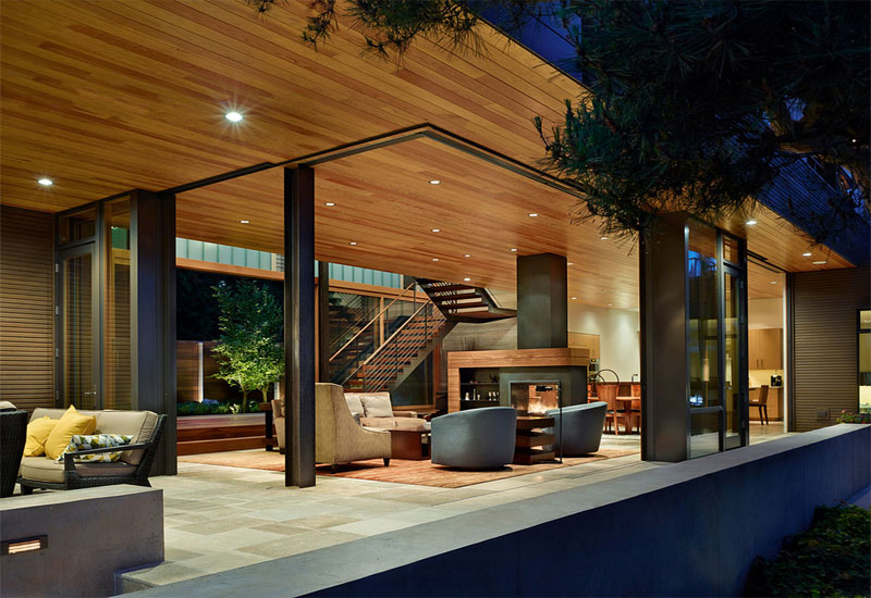 courtyard house trendy style living room