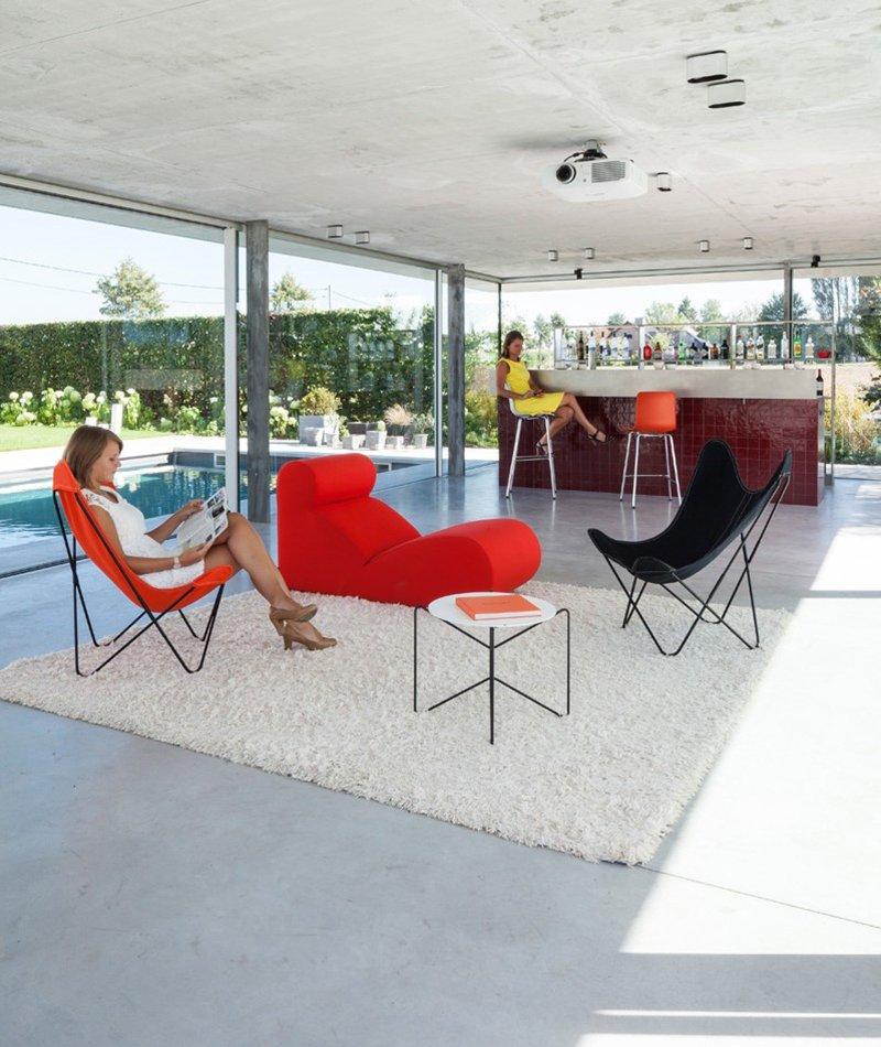 pool house interior