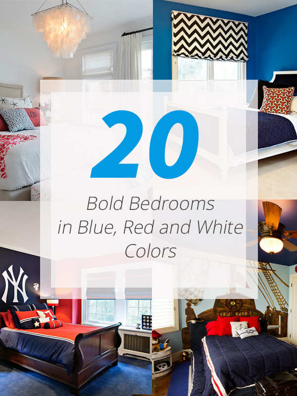 blue red white bedrooms
