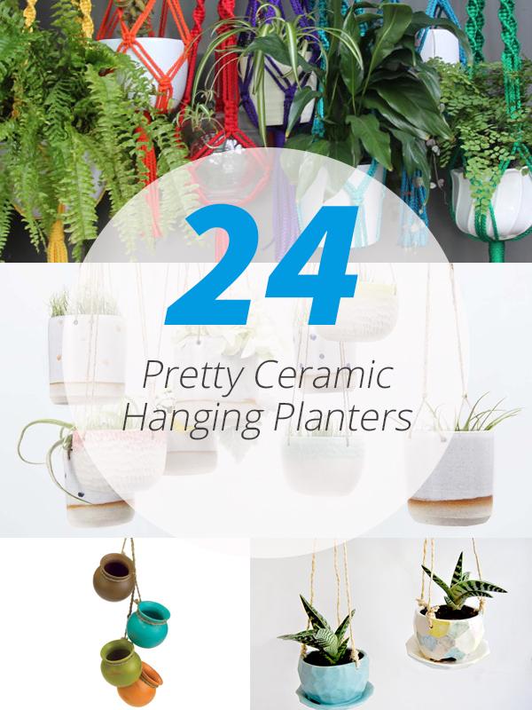 ceramic hanging planters