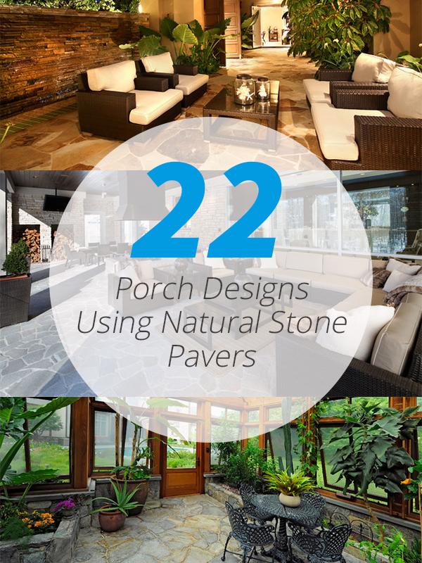 porch natural stone pavers