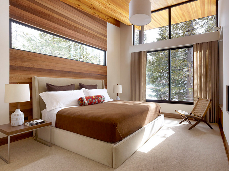 contemporary bedrooms. Contemporary Bedrooms 20 with A Beautiful Outdoor View from Glass