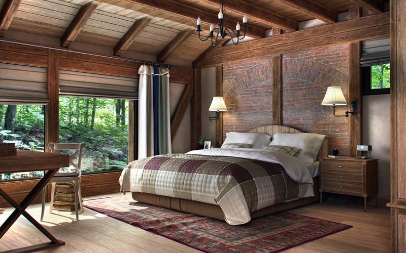 wood design bedroom