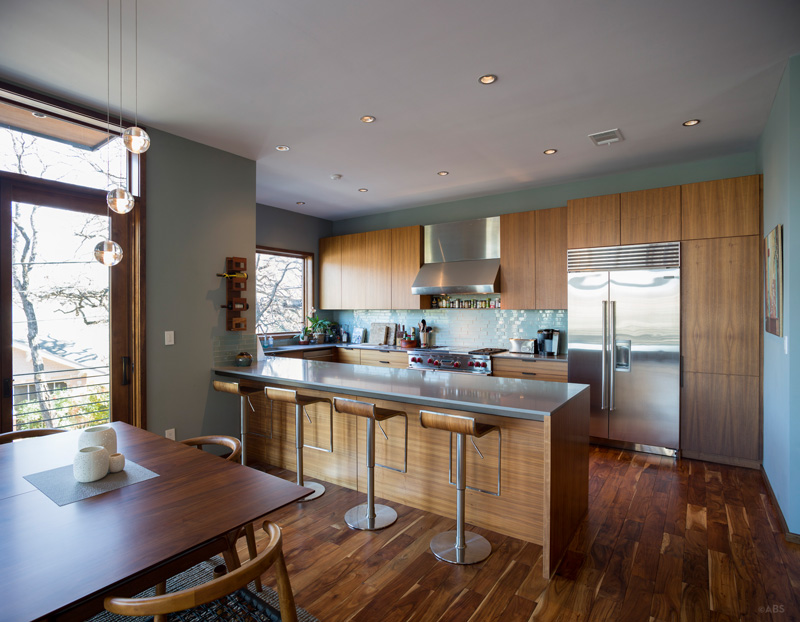 Kitchen of a Contemporary Home in Austin