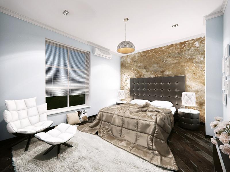 bedroom granite wall