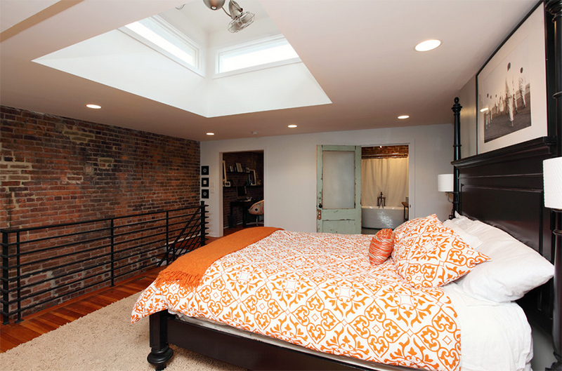 orange bed