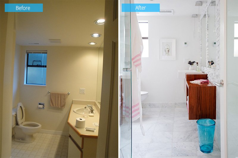 before after bathroom