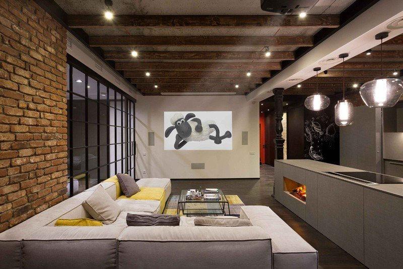 Modern Industrial Loft Apartment in Ukraine Home Design Lover