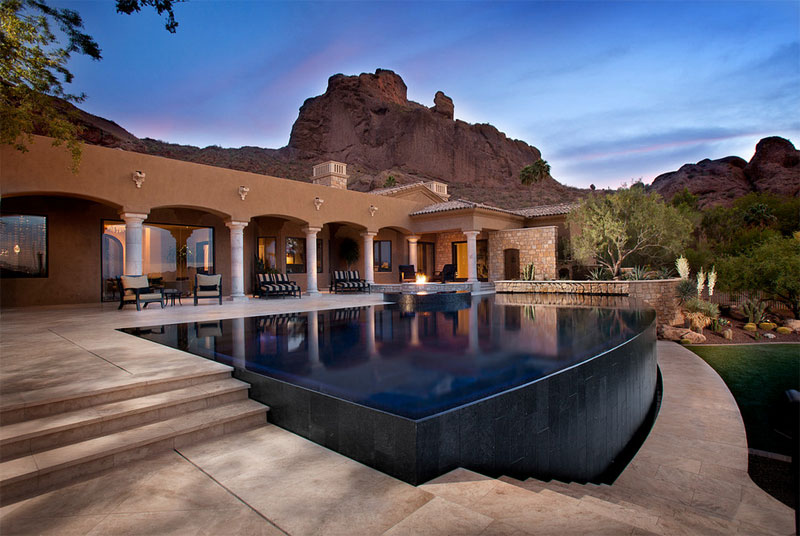 25 finest designs of above ground swimming pool home for Pool design phoenix