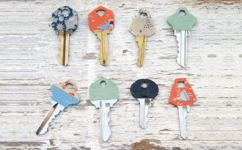Washi Tape House Keys