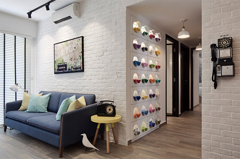 25 Living Rooms With White Brick Walls Home Design Lover