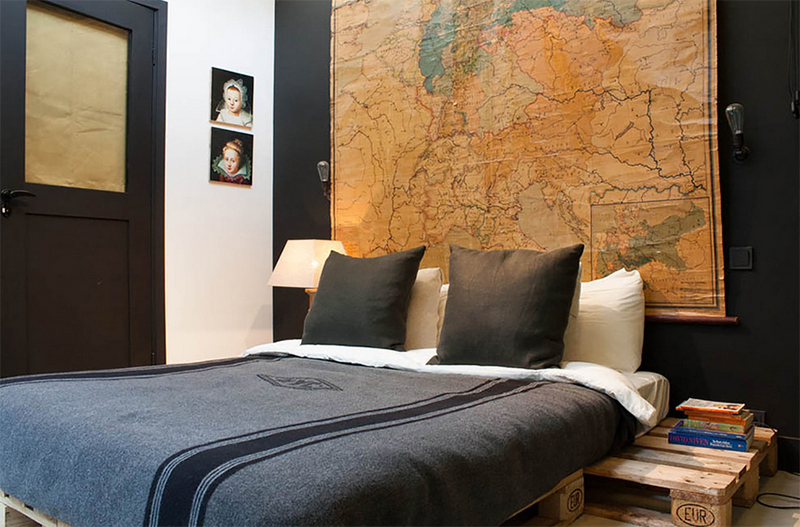 Bachelor Room Design Ideas Part - 38: World Map Wall Art