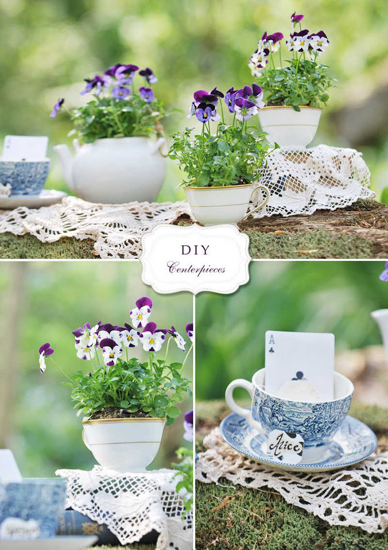 Diy Flower Amp Teacup Centerpieces